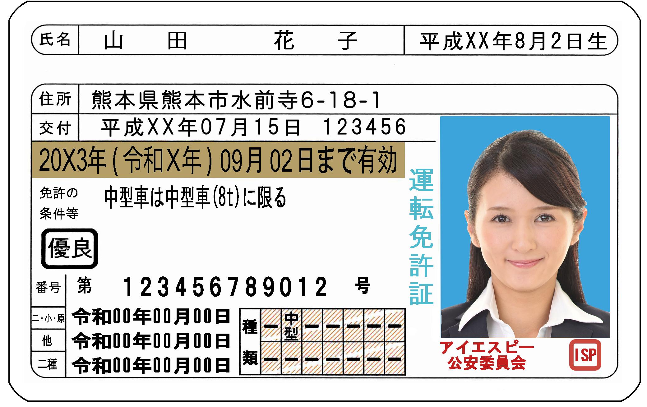 自動車運転免許解析ライブラリ